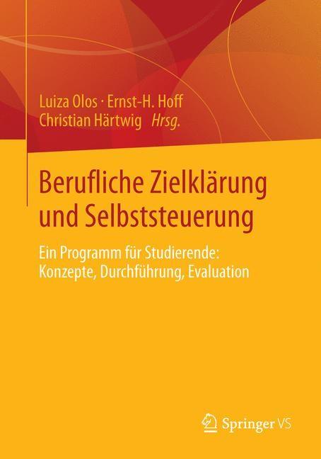 Berufliche Zielklärung und Selbststeuerung   Olos / Hoff / Härtwig, 2013   Buch (Cover)