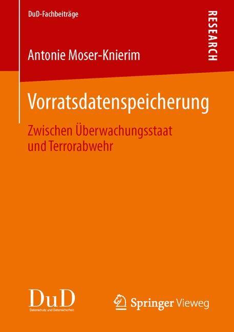 Vorratsdatenspeicherung | Moser-Knierim | 1. Auflage 2014, 2013 | Buch (Cover)