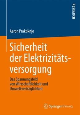 Abbildung von Praktiknjo | Sicherheit der Elektrizitätsversorgung | 1. Auflage | 2013 | beck-shop.de