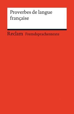 Abbildung von Weller   Proverbes de langue française   2014   19868