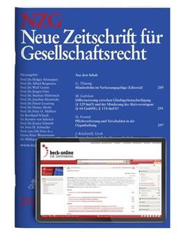 Abbildung von NZG • Neue Zeitschrift für Gesellschaftsrecht | 23. Jahrgang | 2020 | Das gesamte Recht der Personen...