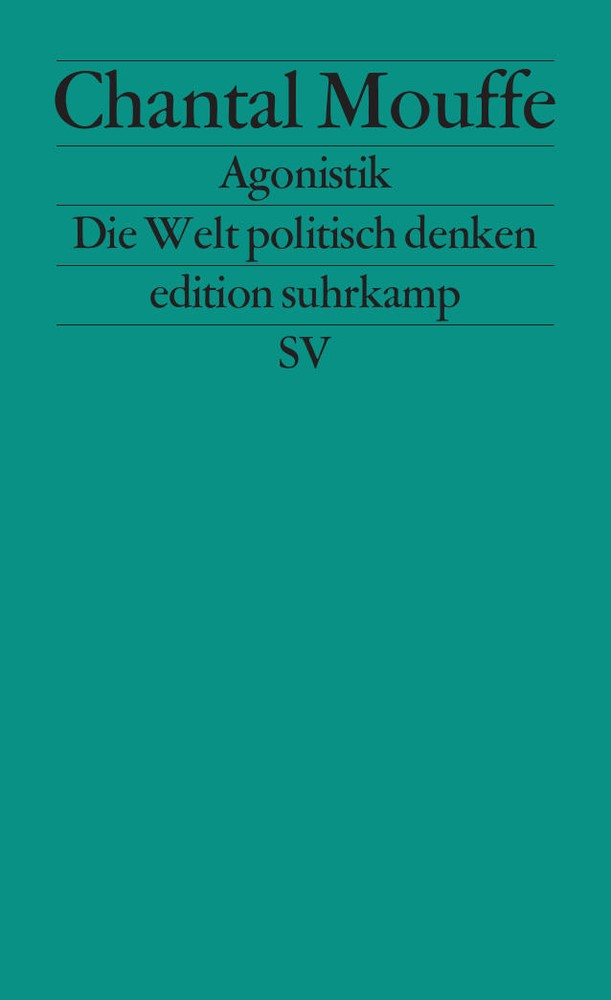 Agonistik | Mouffe | Deutsche Erstausgabe, 2014 | Buch (Cover)