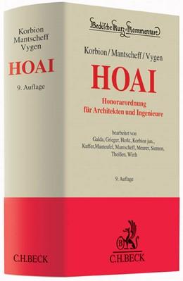 Abbildung von Korbion / Mantscheff / Vygen | Honorarordnung für Architekten und Ingenieure: HOAI | 9., neubearbeitete und erweiterte Auflage | 2016 | mit Gesetz zur Regelung von In... | Band 59