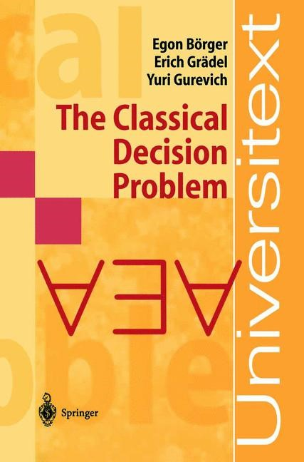 Abbildung von Börger / Grädel / Gurevich | The Classical Decision Problem | 1st ed. 1997. 2nd printing | 2001