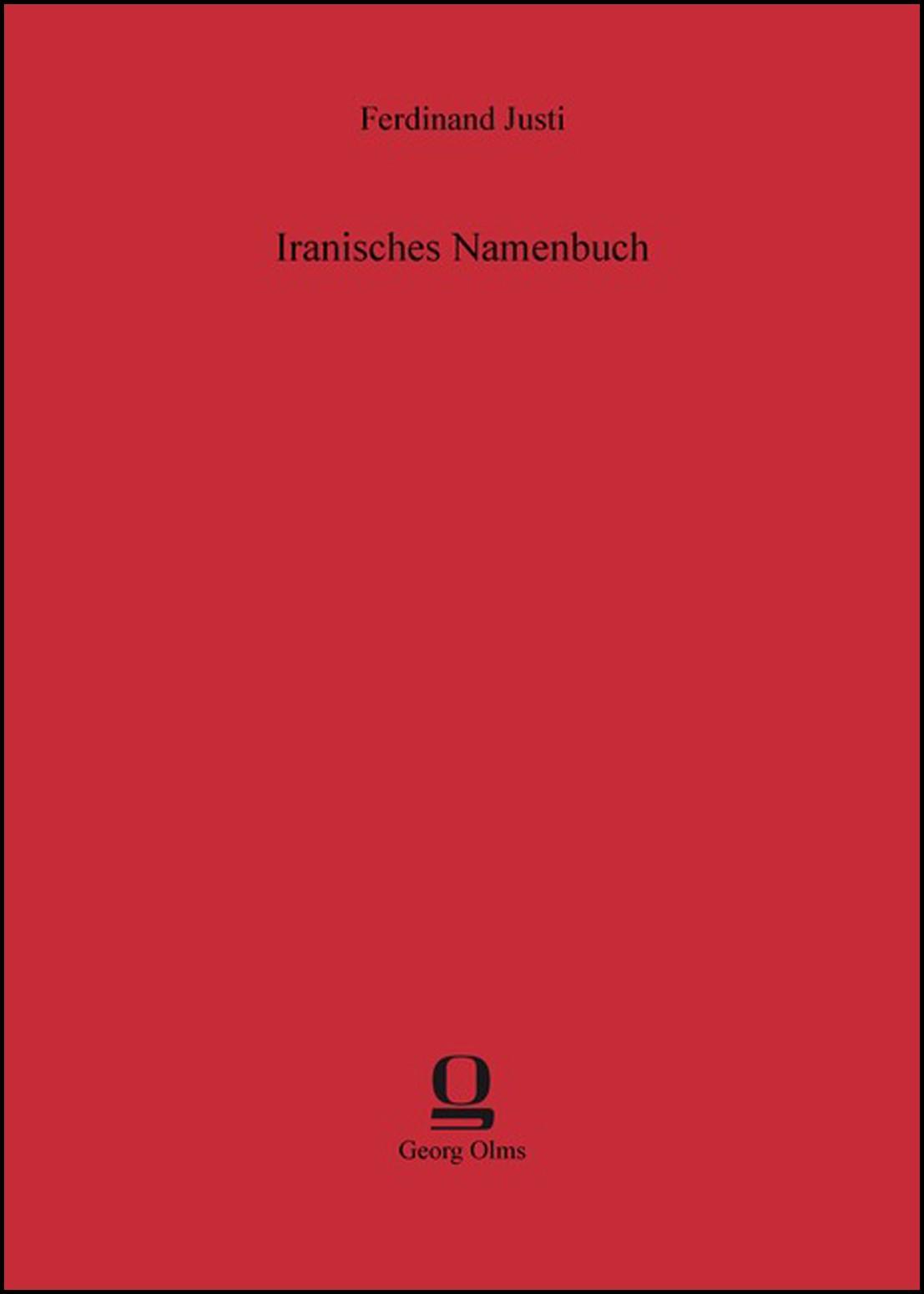 Iranisches Namenbuch | Justi, 2013 | Buch (Cover)