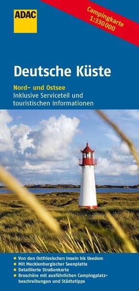 ADAC Campingkarte Deutsche Küste 1 : 330 000 | 4. Auflage, 2014 (Cover)