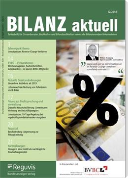 Abbildung von Bilanz aktuell | 2019 | Zeitschrift für Steuerberater,...
