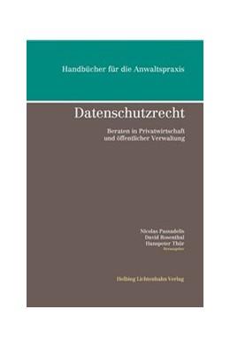 Abbildung von Passadelis / Rosenthal | Datenschutzrecht | 1. Auflage | 2015 | beck-shop.de