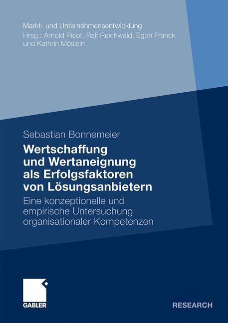 Wertschaffung und Wertaneignung als Erfolgsfaktoren von Lösungsanbietern | Bonnemeier, 2009 | Buch (Cover)