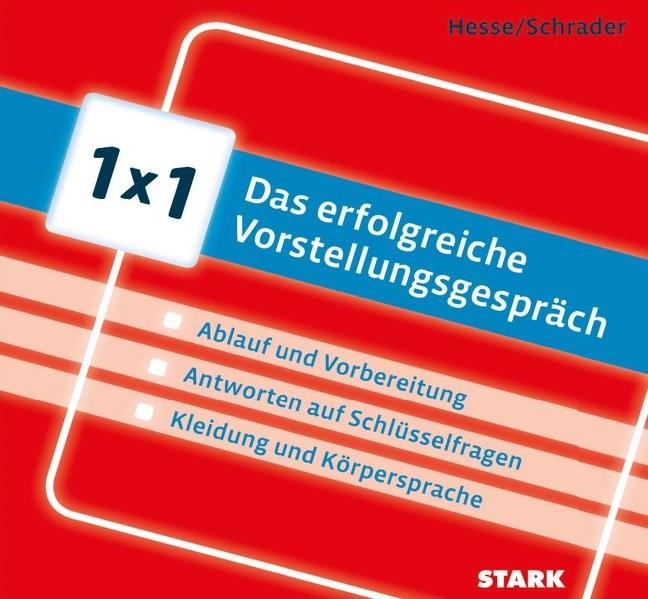 1x1 - Das erfolgreiche Vorstellungsgespräch | Hesse / Schrader, 2014 | Buch (Cover)