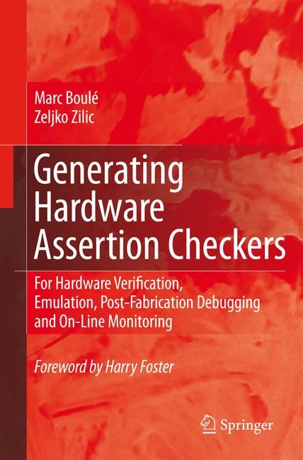 Generating Hardware Assertion Checkers | Boulé / Zilic, 2008 | Buch (Cover)