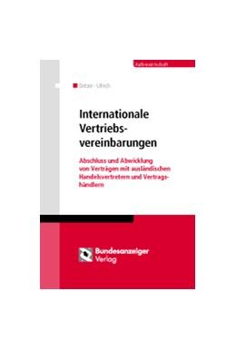 Abbildung von Detzer / Ullrich | Internationale Vertriebsvereinbarungen | 1. Auflage | 2014 | beck-shop.de