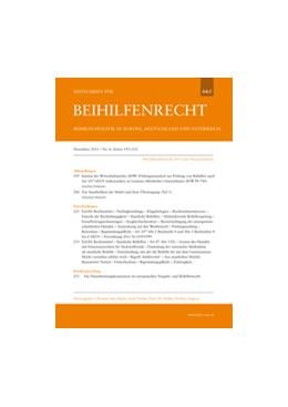 Abbildung von Zeitschrift für Beihilfenrecht - BRZ | 12. Jahrgang | 2020 | Beihilfenrecht und -politik in...