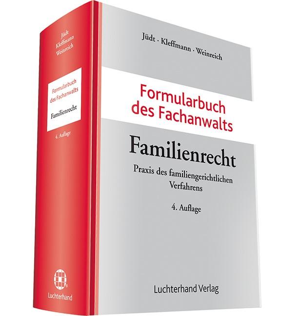 Formularbuch des Fachanwalts Familienrecht | Jüdt / Kleffmann / Weinreich (Hrsg.) | Buch (Cover)