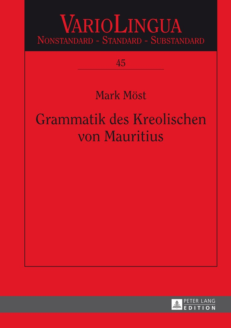 Grammatik des Kreolischen von Mauritius | Möst, 2013 | Buch (Cover)