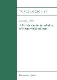 A Halich Karaim translation of Hebrew biblical texts | Olach | 1., Auflage, 2013 | Buch (Cover)
