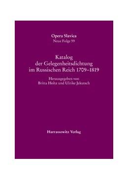 Abbildung von Holtz / Jekutsch | Katalog der Gelegenheitsdichtung im Russischen Reich 1709–1819 | 1., Auflage | 2016 | 59