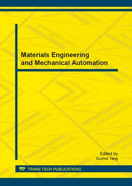 Abbildung von Yang | Materials Engineering and Mechanical Automation | 2014 | Selected, peer reviewed papers... | Volume 442