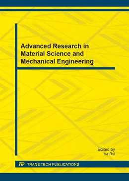 Abbildung von Rui | Advanced Research in Material Science and Mechanical Engineering | 1. Auflage | 2014 | Volumes 446-447 | beck-shop.de
