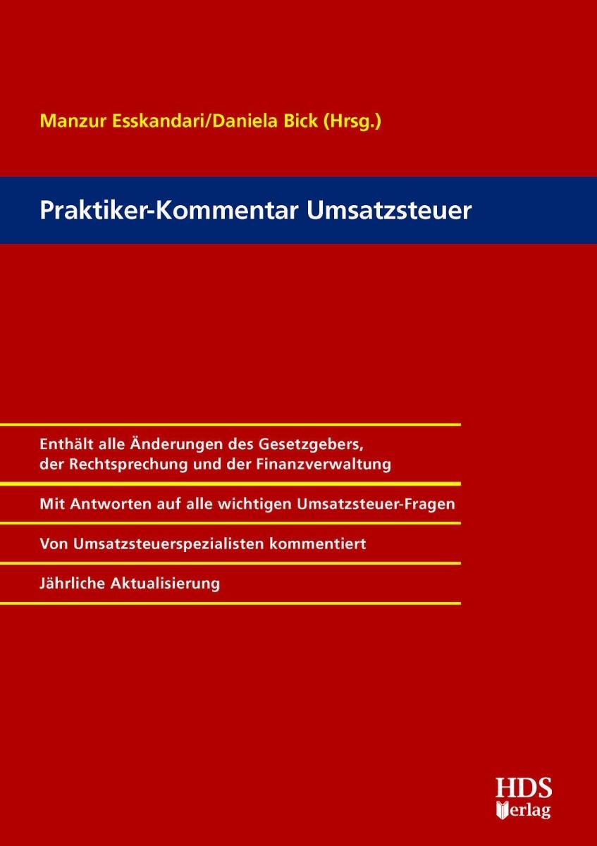 Praktiker-Kommentar Umsatzsteuer | Esskandari / Bick (Hrsg.), 2017 | Buch (Cover)