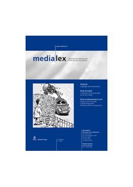 Abbildung von medialex – Zeitschrift für Medienrecht   3. Jahrgang   2019   Revue de droit des médias