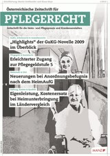 Österreichische Zeitschrift für Pflegerecht - ÖZPR | 9. Jahrgang, 2014 (Cover)