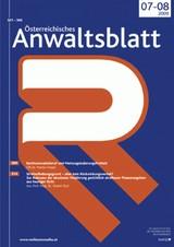 Österreichisches Anwaltsblatt   81. Jahrgang, 2014 (Cover)