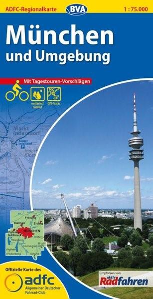 Abbildung von ADFC-Regionalkarte München und Umgebung 1 : 75 000 | 2. Auflage | 2014