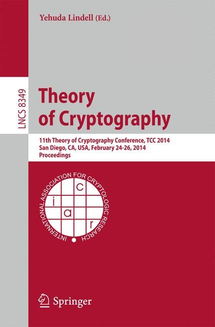 Theory of Cryptography | Lindell, 2014 | Buch (Cover)