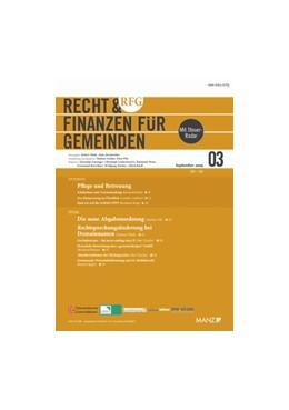 Abbildung von RFG - Recht & Finanzen für Gemeinden | 17. Jahrgang | 2019