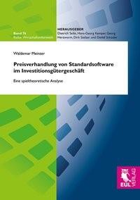 Abbildung von Meinzer | Preisverhandlung von Standardsoftware im Investitionsgütergeschäft | 2013