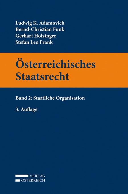 Österreichisches Staatsrecht | Adamovich / Funk / Holzinger, 2014 | Buch (Cover)