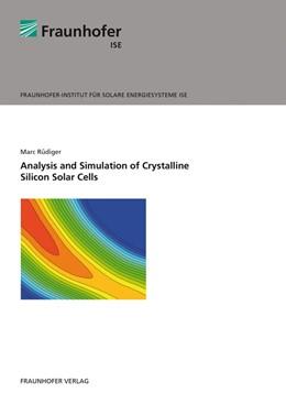 Abbildung von Rüdiger / | Analysis and Simulation of Crystalline Silicon Solar Cells. | 1. Auflage | 2014 | beck-shop.de