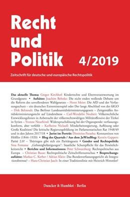Abbildung von RUP - Recht und Politik | 54. Auflage | 2020 | beck-shop.de