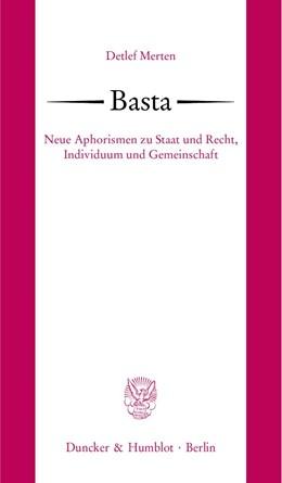 Abbildung von Merten   Basta.   2007   Neue Aphorismen zu Staat und R...