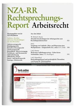 Abbildung von NZA-RR • Rechtsprechungs-Report Arbeitsrecht | 23. Auflage | 2020 | beck-shop.de