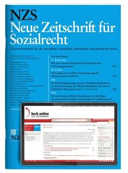 Abbildung von NZS • Neue Zeitschrift für Sozialrecht | 27. Auflage | 2020 | beck-shop.de
