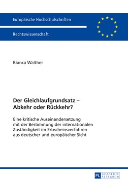 Abbildung von Walther | Der Gleichlaufgrundsatz – Abkehr oder Rückkehr? | 1. Auflage | 2013 | 5531 | beck-shop.de