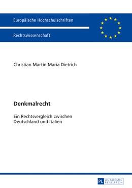 Abbildung von Dietrich   Denkmalrecht   1. Auflage   2013   5529   beck-shop.de