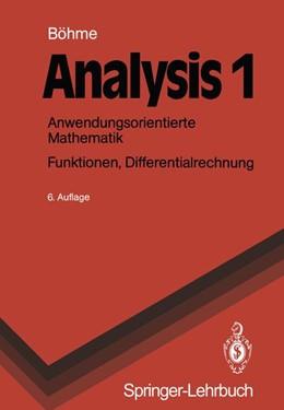 Abbildung von Böhme   Analysis 1   1990   Anwendungsorientierte Mathemat...