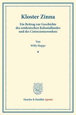 Abbildung von Hoppe | Kloster Zinna. | 2014 | Ein Beitrag zur Geschichte des...