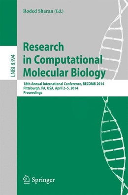 Abbildung von Sharan | Research in Computational Molecular Biology | 1. Auflage | 2014 | beck-shop.de
