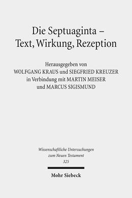 Abbildung von Kraus / Kreuzer | Die Septuaginta - Text, Wirkung, Rezeption | 1. Auflage | 2014 | 325 | beck-shop.de