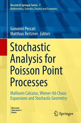 Abbildung von Peccati / Reitzner | Stochastic Analysis for Poisson Point Processes | 1. Auflage | 2016 | 7 | beck-shop.de