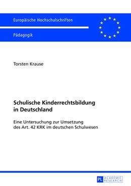 Abbildung von Krause | Schulische Kinderrechtsbildung in Deutschland | 2013 | Eine Untersuchung zur Umsetzun... | 1031