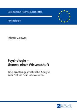 Abbildung von Zalewski | Psychologie – Genese einer Wissenschaft | 2013 | Eine problemgeschichtliche Ana... | 766