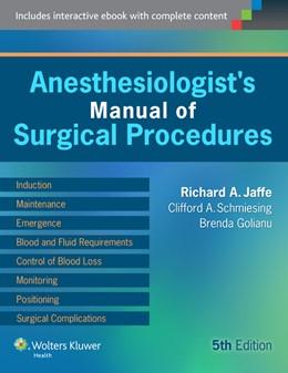Abbildung von Jaffe | Anesthesiologist's Manual of Surgical Procedures | 2014