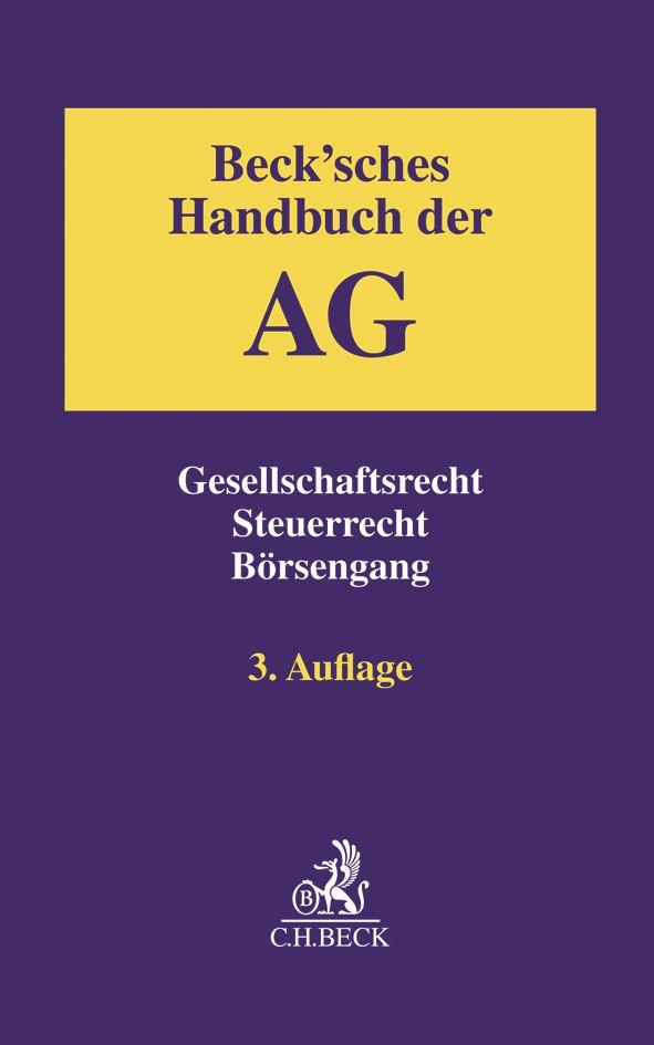 Beck'sches Handbuch der AG | 3. Auflage, 2018 | Buch (Cover)