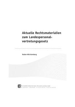 Abbildung von Aktuelle Rechtsmaterialien zum Landespersonalvertretungsgesetz | 1. Auflage | 2014 | Baden-Württemberg