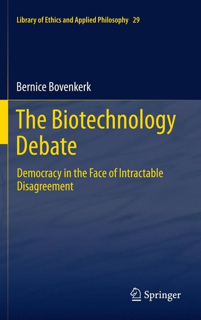 The Biotechnology Debate | Bovenkerk, 2014 | Buch (Cover)